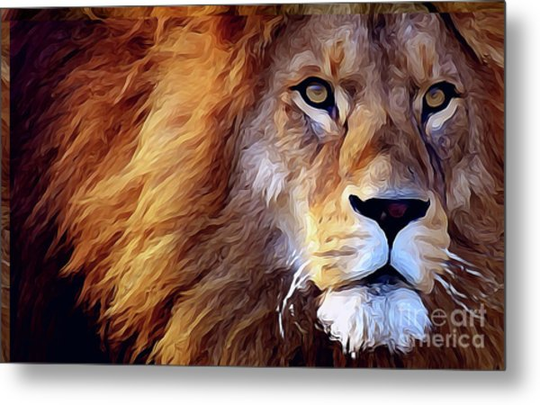 Lion-hearted Metal Print