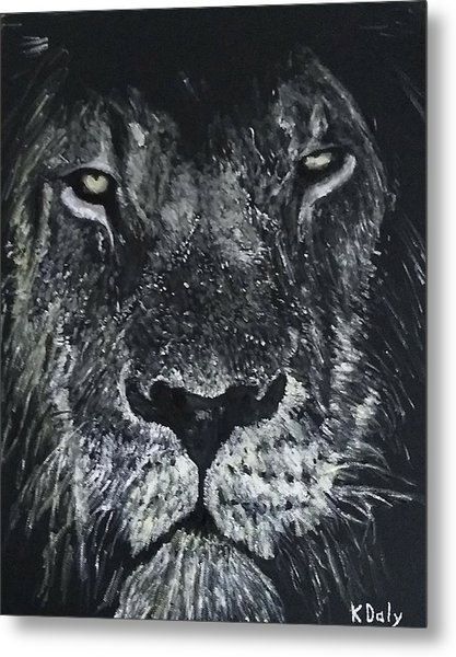 Metal Print featuring the painting Lion by Kevin Daly