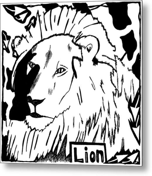 Lion Maze Metal Print by Yonatan Frimer Maze Artist