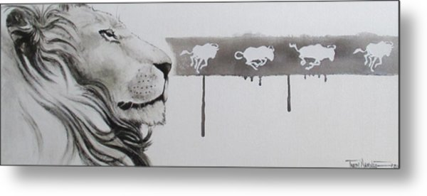 Lion Tears Metal Print