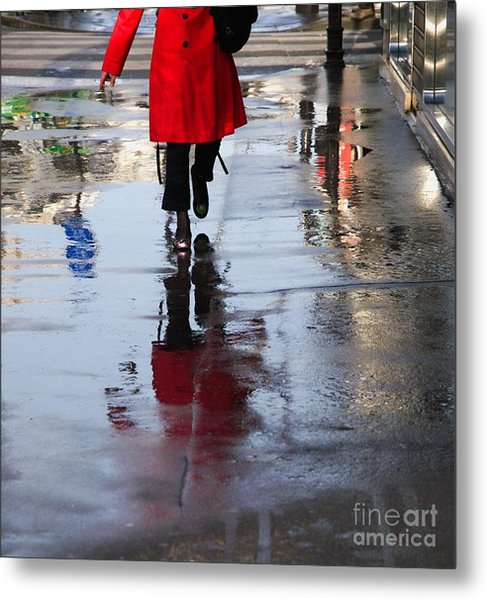 Lipstick On The Street Metal Print by Paolo Pizzimenti
