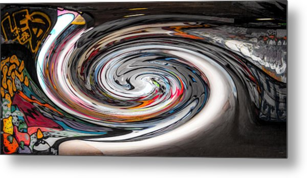 Liquefied Graffiti Metal Print