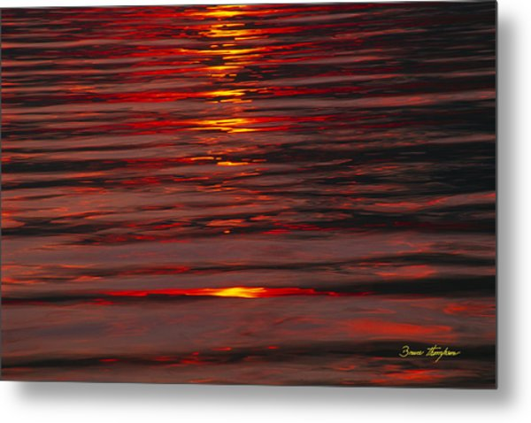 Liquid Sunset - Lake Geneva Wisconsin Metal Print