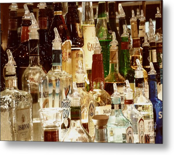 Liquor Bottles Metal Print