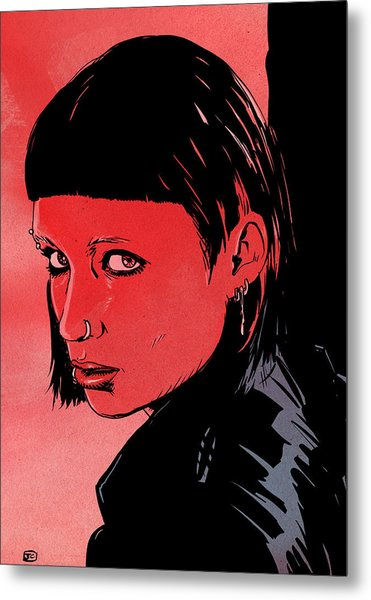 Lisbeth Salander Mara Rooney Metal Print