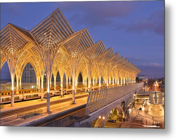 Lisbon Gare Do Oriente Metal Print