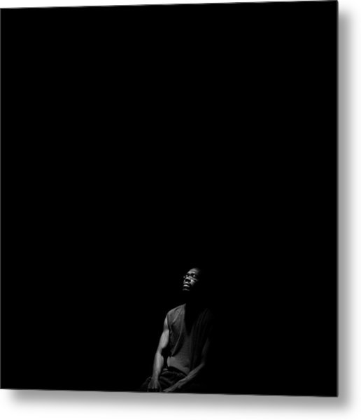 Metal Print featuring the photograph Listen by Eric Christopher Jackson