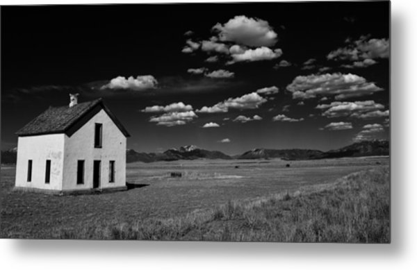 Little Abandoned House On The Prairie Metal Print