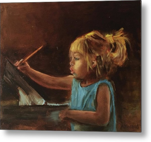 Little Artist Metal Print