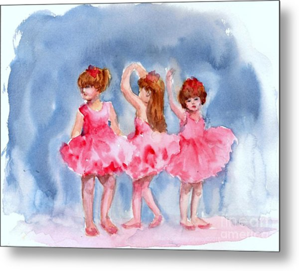 Little Ballerinas Metal Print