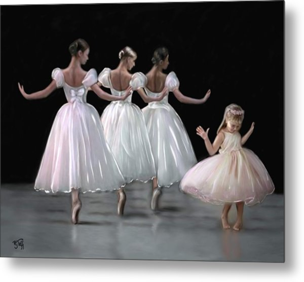 Little Ballerina's Dream Metal Print