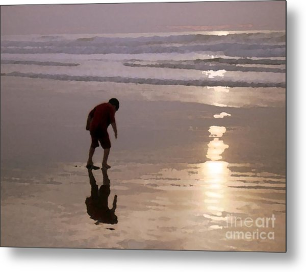 Little Boy At Play Metal Print