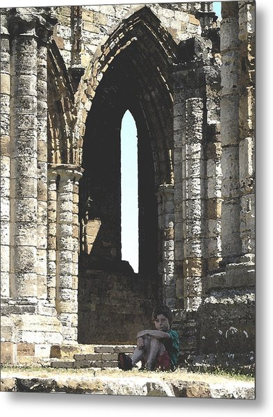 Little Boy Under The Arch Metal Print