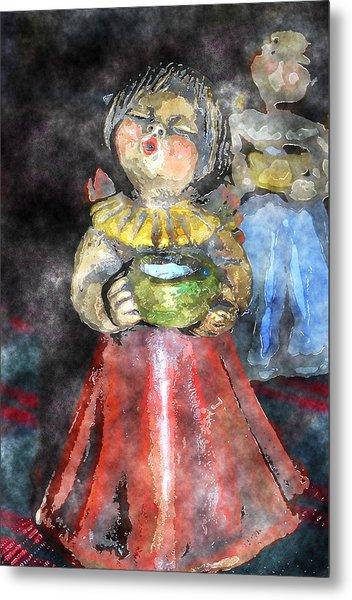 Little Christmas Angel-abstract Metal Print