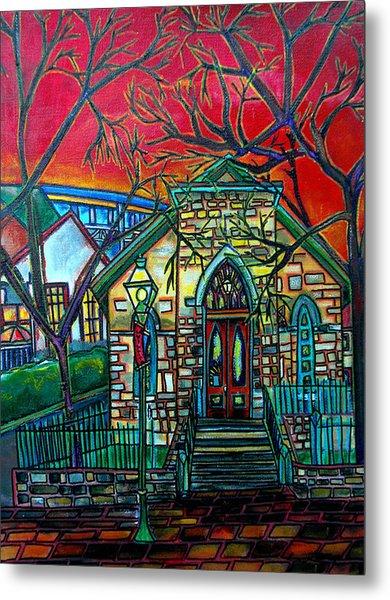 Little Church At La Villita Metal Print