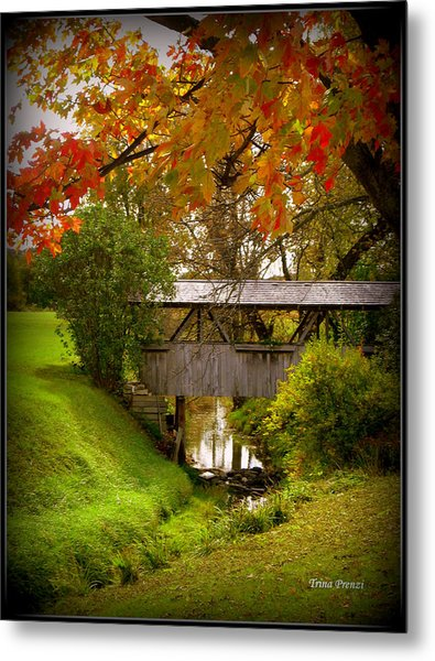 Little Covered Bridge Metal Print by Trina Prenzi