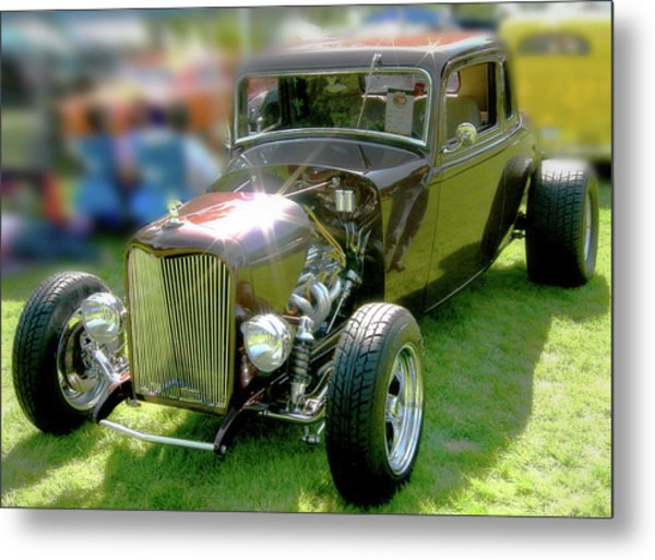 Little Deuce Coupe In Root Beer Brown Metal Print