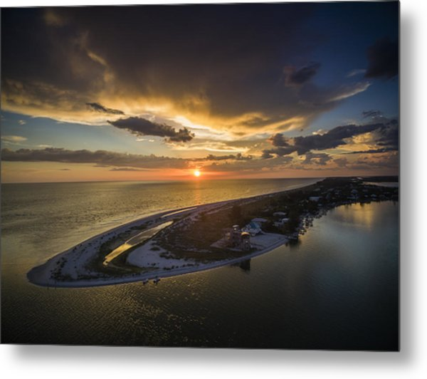 Little Gasparilla Island Point Sunset Metal Print