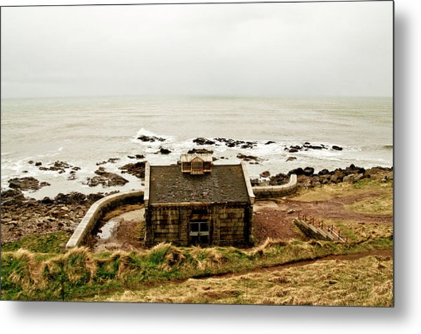 Little House At The Nigg Bay. Metal Print
