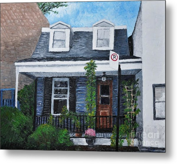 Little House In The City Metal Print