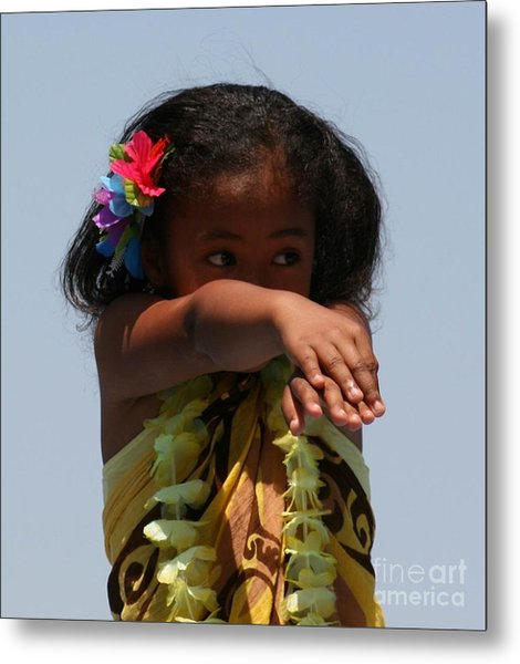 Metal Print featuring the photograph Little Hula Dancer by Cynthia Marcopulos