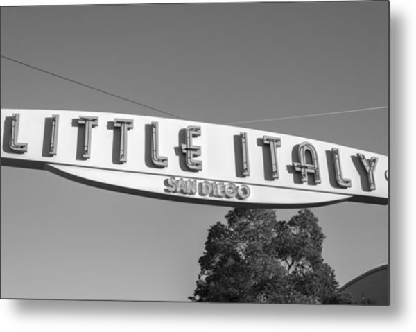 Little Italy Monochrome Metal Print
