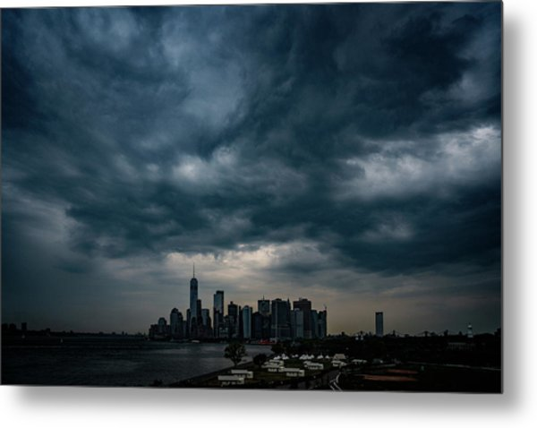 Metal Print featuring the photograph Little Manhattan Under A Cloud by Chris Lord