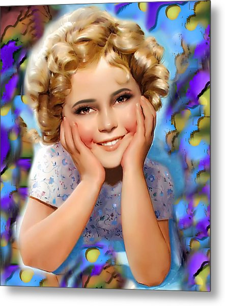 Little Miss Shirley Metal Print