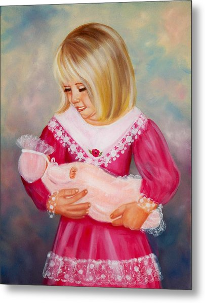 Little Mommy Metal Print by Joni McPherson