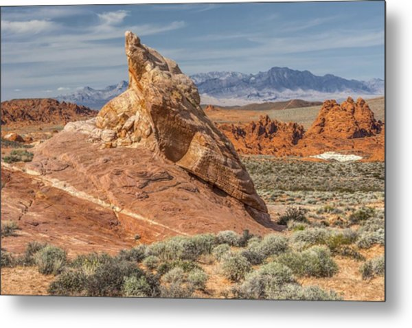 Little Monument In Valley Of Fire Metal Print