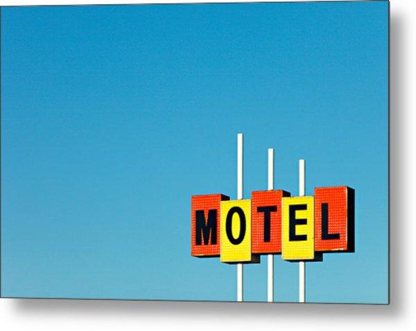 Little Motel Sign Metal Print