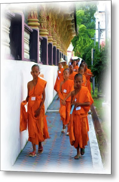 Little Novice Monks 2 Metal Print