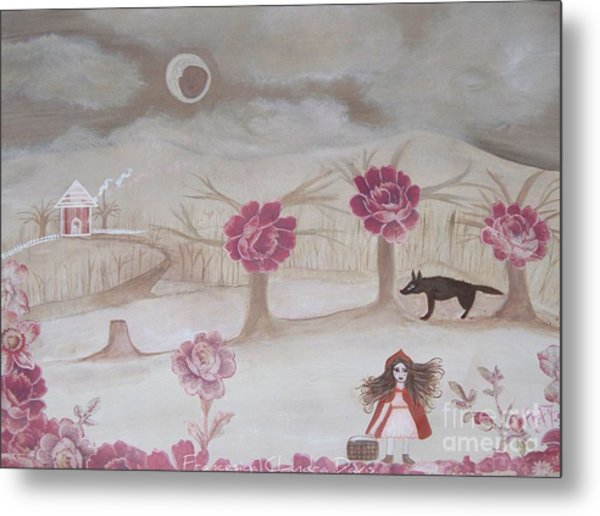 Little Red Riding Hood Metal Print by Sacred  Muse