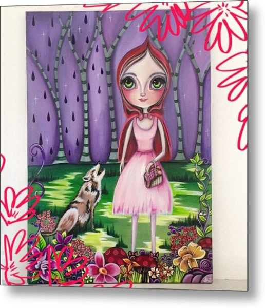 little Red Riding Hood Painting Metal Print