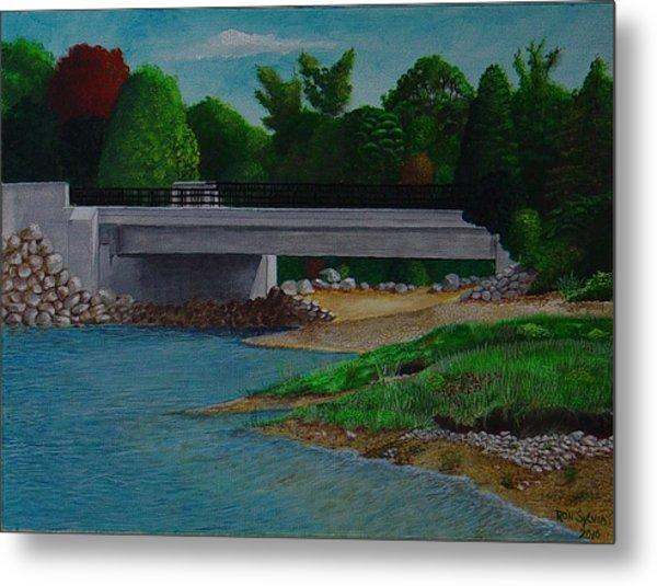 Little River Bridge Metal Print by Ron Sylvia