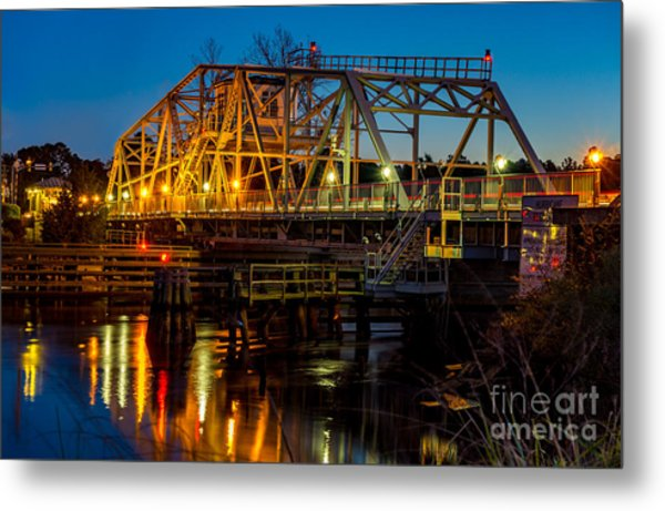 Little River Swing Bridge Metal Print
