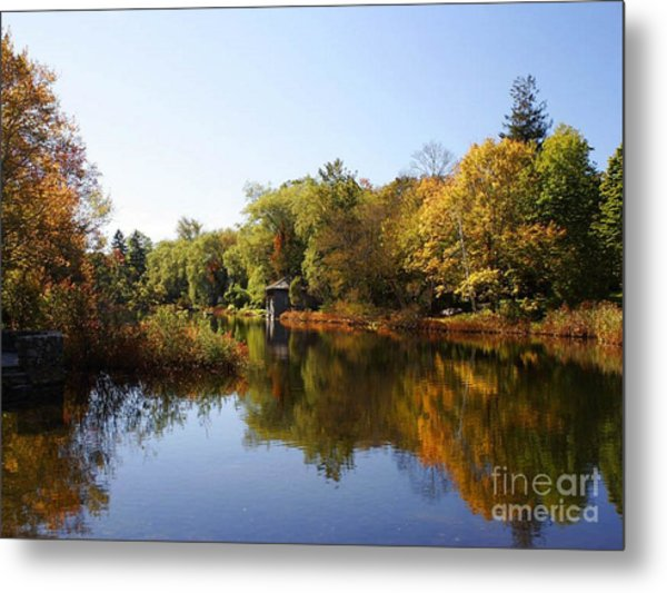 Little Shawme Pond In Sandwich Massachusetts Metal Print