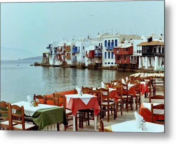 Little Venice On Mykonos Metal Print