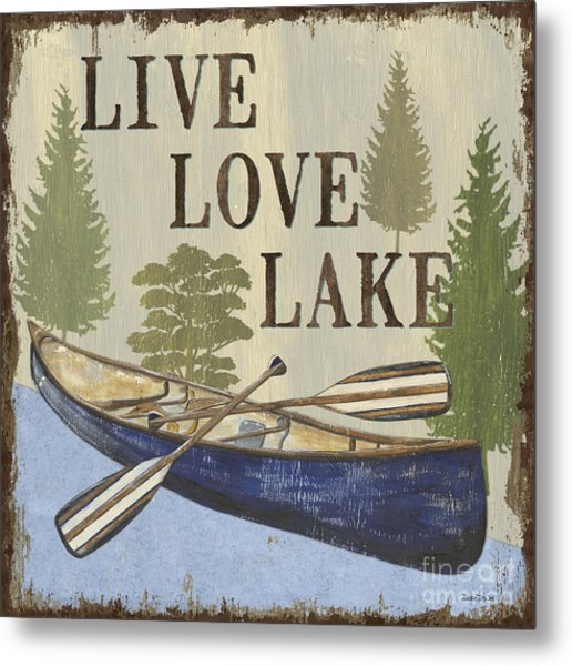Live, Love Lake Metal Print