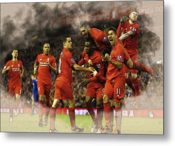 Liverpool V Leicester City Metal Print