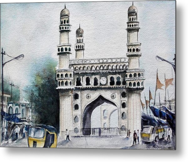 Living History Charminar Hyderabad Metal Print