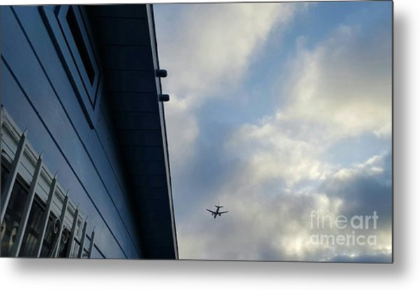 Living In The Landing Zone  Metal Print