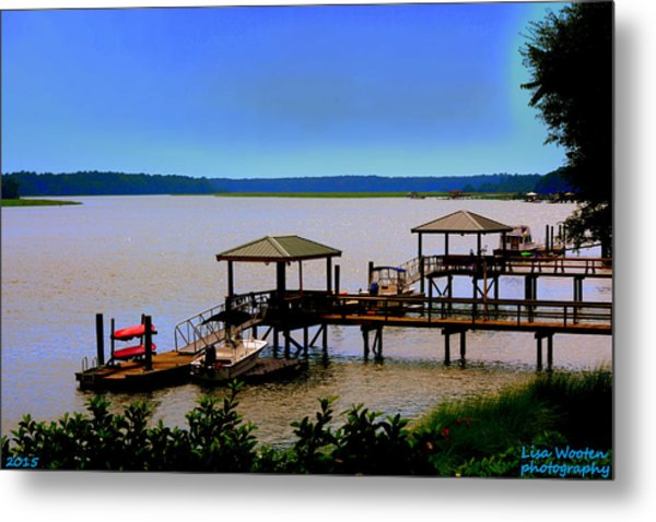 Metal Print featuring the photograph Living In The Lowcountry by Lisa Wooten