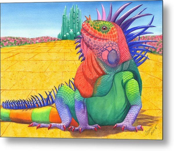 Lizard Of Oz Metal Print