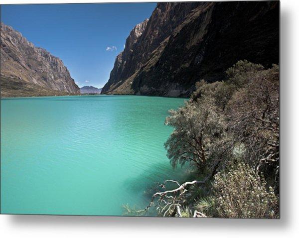 Llanganuco Lakes In Cordillera Blanca Metal Print