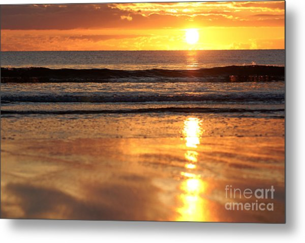 Llangennith Sundown Metal Print