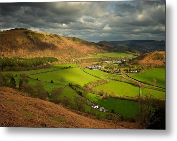 Llangollen In The Evening Light Metal Print