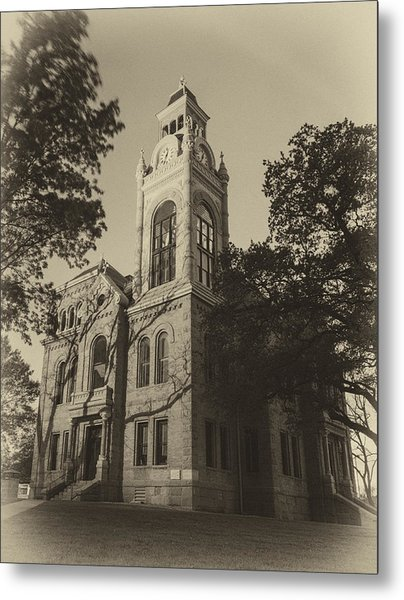 Llano County Courthouse - Vintage Metal Print