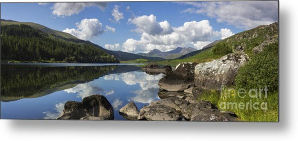 Llyn Mymbyr And Snowdon Panorama Metal Print