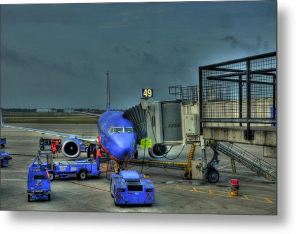 Loading Luggage Metal Print